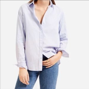 Everlane The Silky Cotton Relaxed Shirt Sz 8